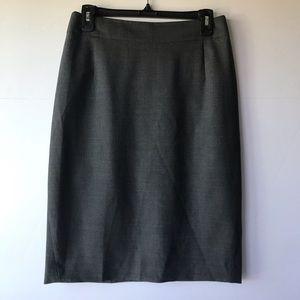 Theory | Dark Gray Wool Blend Pencil Skirt, 6